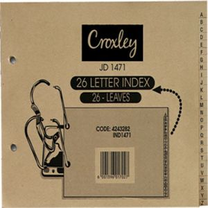 Croxley JD1471 Lever Arch Indices
