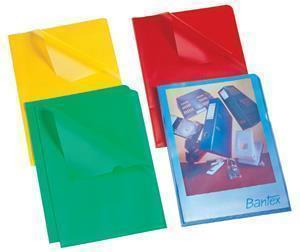 Bantex Secretarial Folder Frost Red - Pack 10