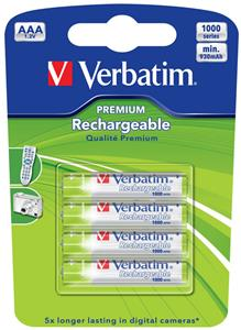 Verbatim AAA Rechargeable Battery 4pack