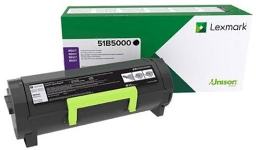 LEX 51B50 BLACK STANDARD YIELD RETURN PROGRAM TONER CARTRIDGE ( 2500 PAGE YIELD )