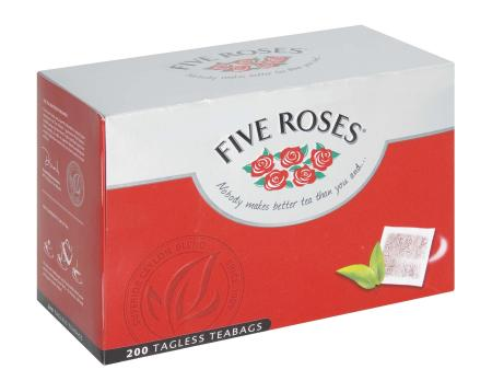 Five Roses Teabags Tagless 200's