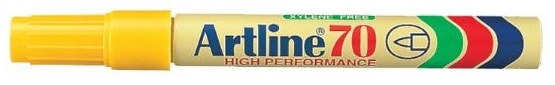 Artline EK70 Marker Yellow Bullet