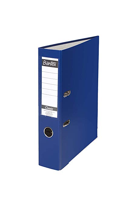 LEVER ARCH FILE A4 40mm PP NAVY BLUE WITH STRONG-LINE