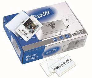 Bantex Conference Badge Clear