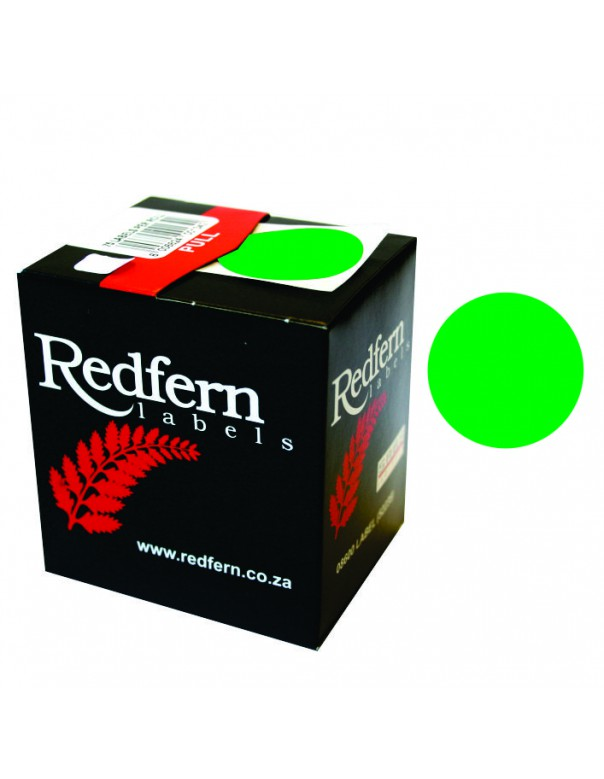 Redfern C25 Label Fluor. Green
