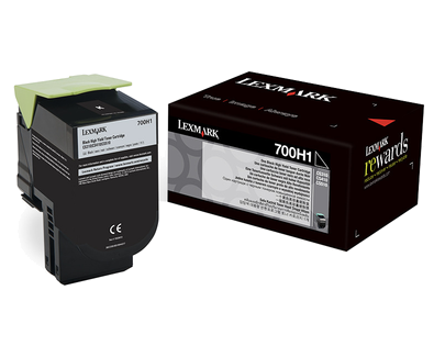 LEXMARK 700H1 BLACK HIGH YIELD TONER CARTRIDGE
