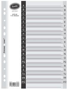 Bantex A4 20 Div A-Z Index Grey