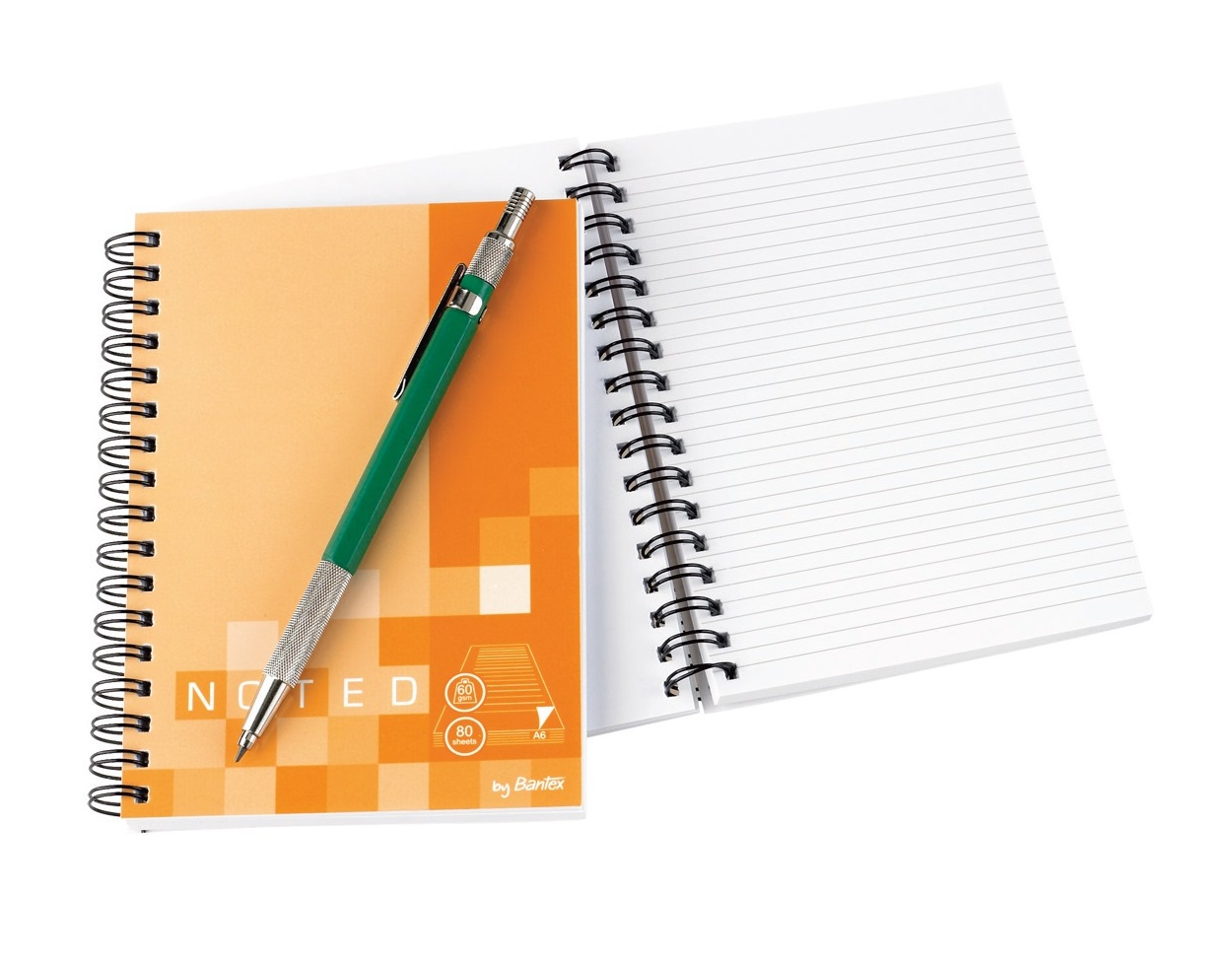 Bantex A6 Soft Cover Notebook Spiral Bound