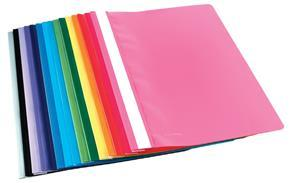 A4 Pink Quotation Folder Clear Front