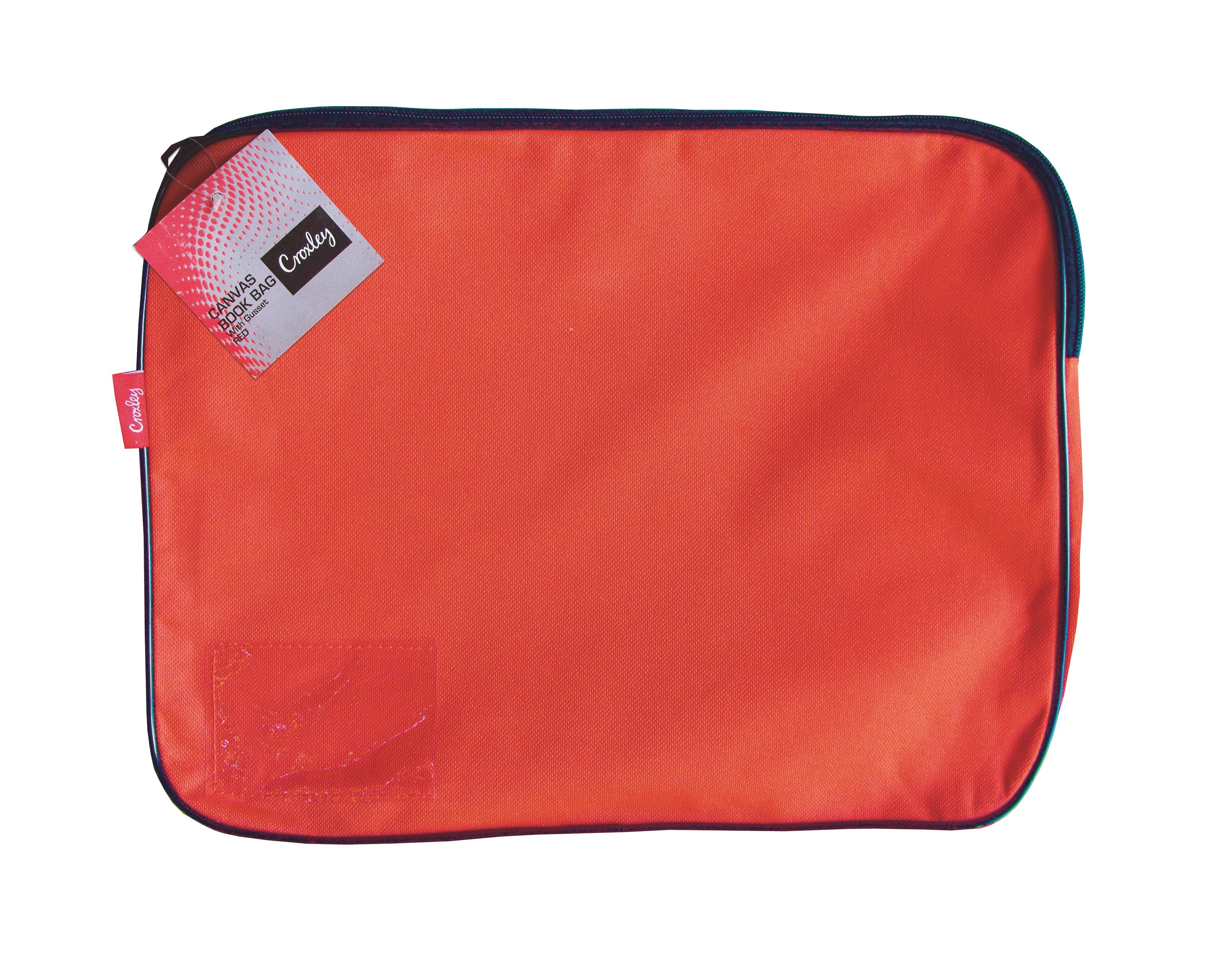 Croxley Canvas Gusset Book Bag Orange