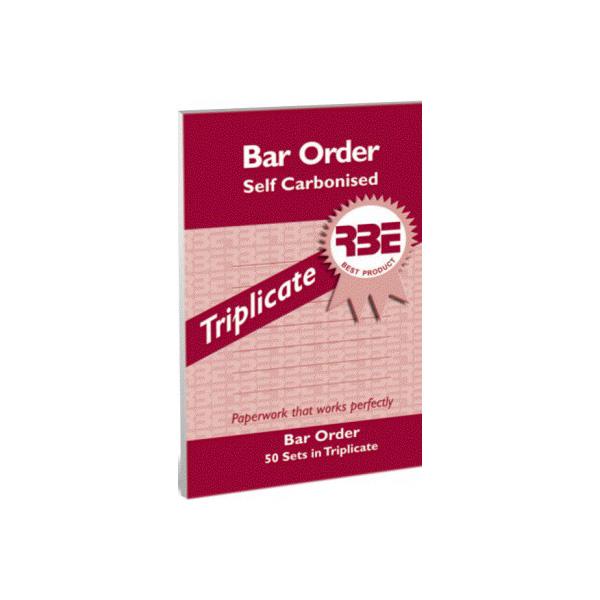 Bar Order Triplicate 5pk