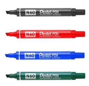 Pentel N60 Chisel Marker Black