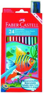 Faber Castell Full Aquarelle Colour Pencils 12'S