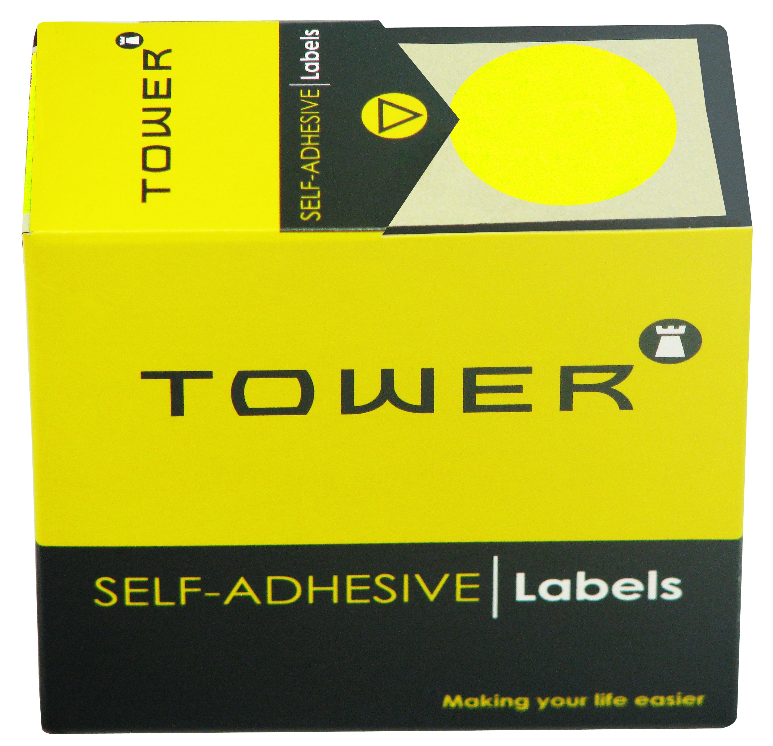Tower C32 Label Yellow