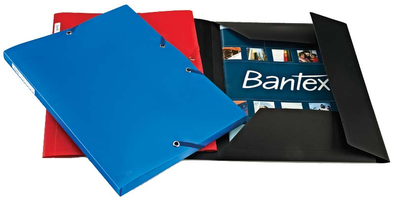 Bantex PP Document Wallet Assorted Colour