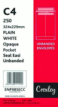 Croxley Envelopes C4 (324x229) Seal Easi No Window White