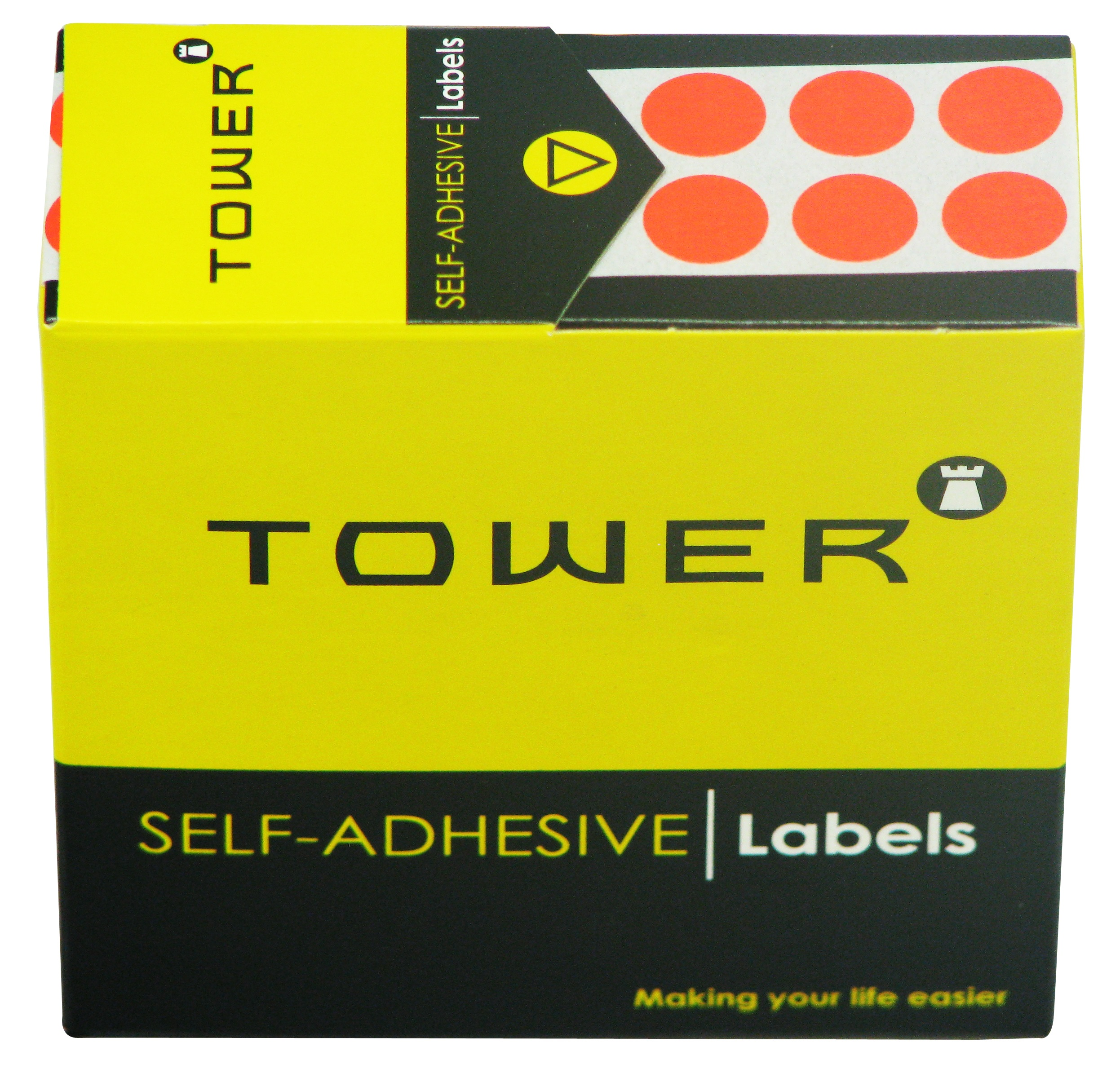 Tower C10 Label Flu Red