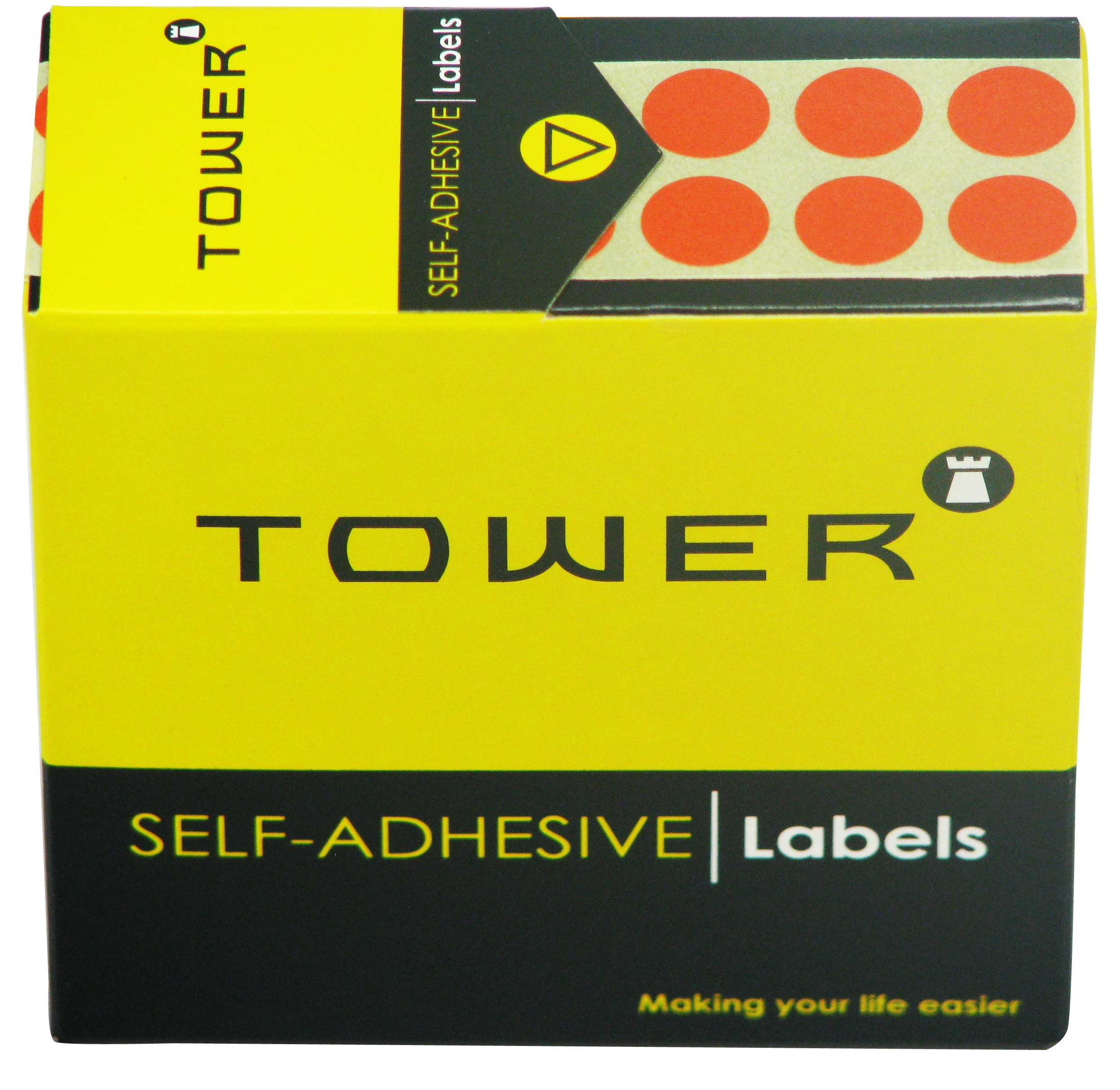 Tower C10 Label Orange