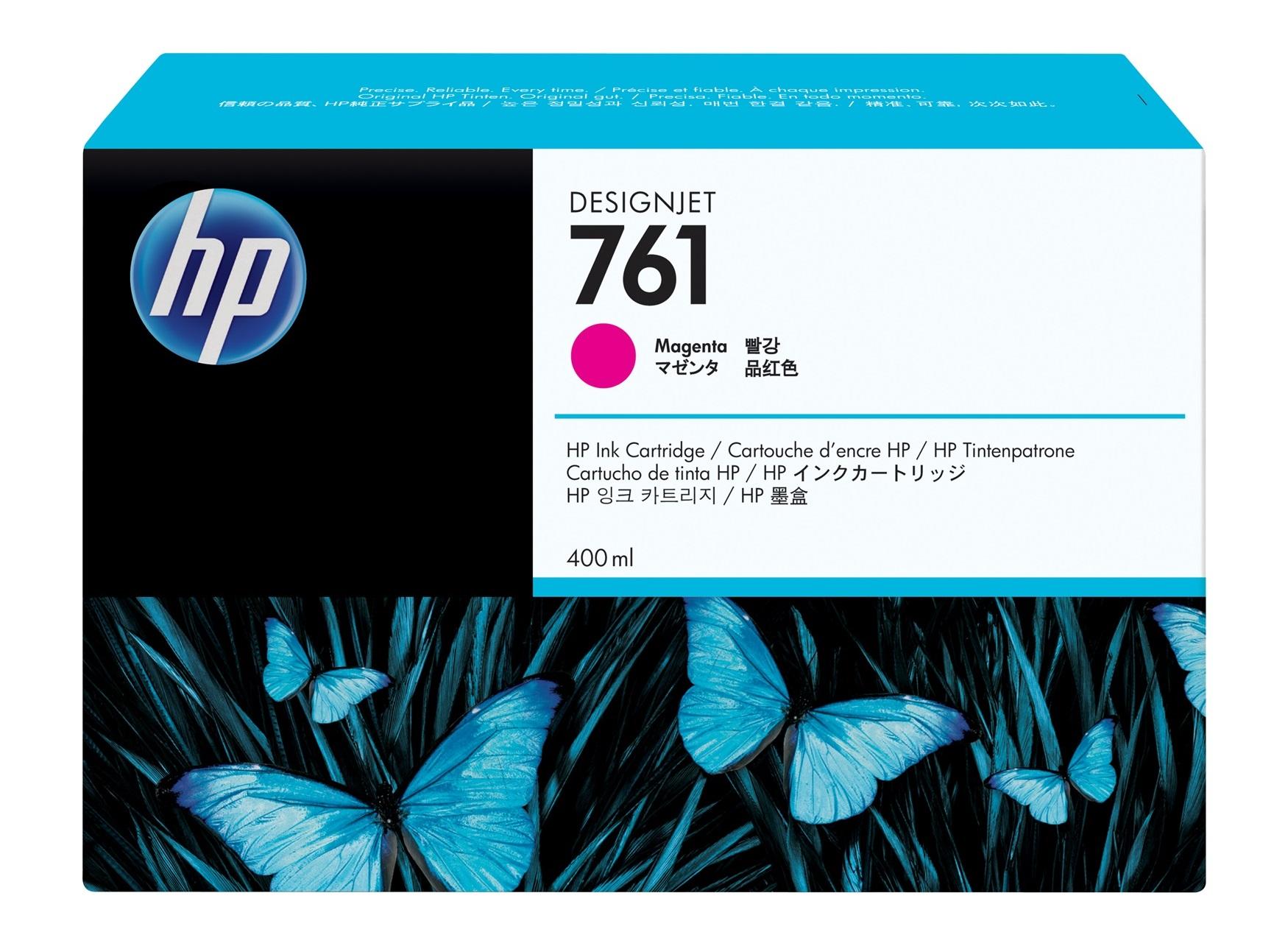 HP 761 400ML Magenta Ink Cartridge/Designjet T7100