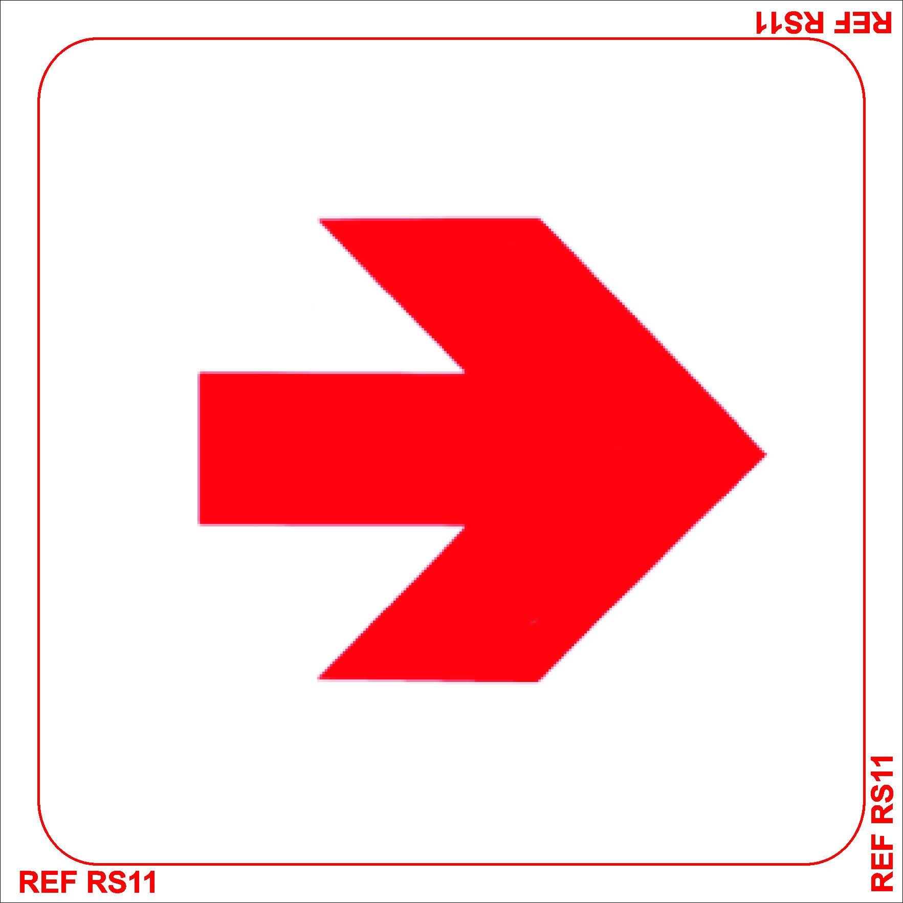 Redfern Red Arrow Sign 150mmx150mm