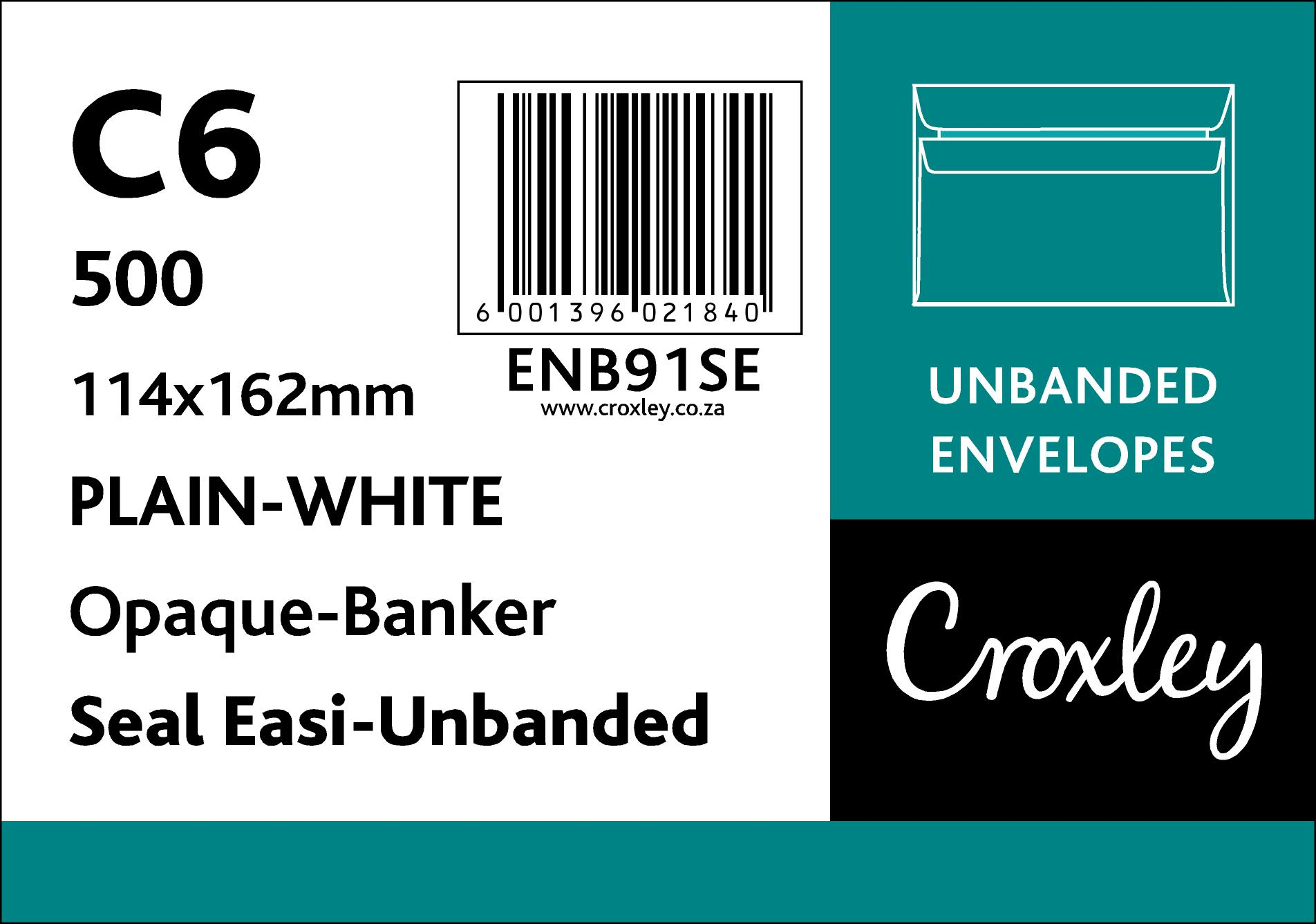 C6 Croxley White Seal Easi Unbanded