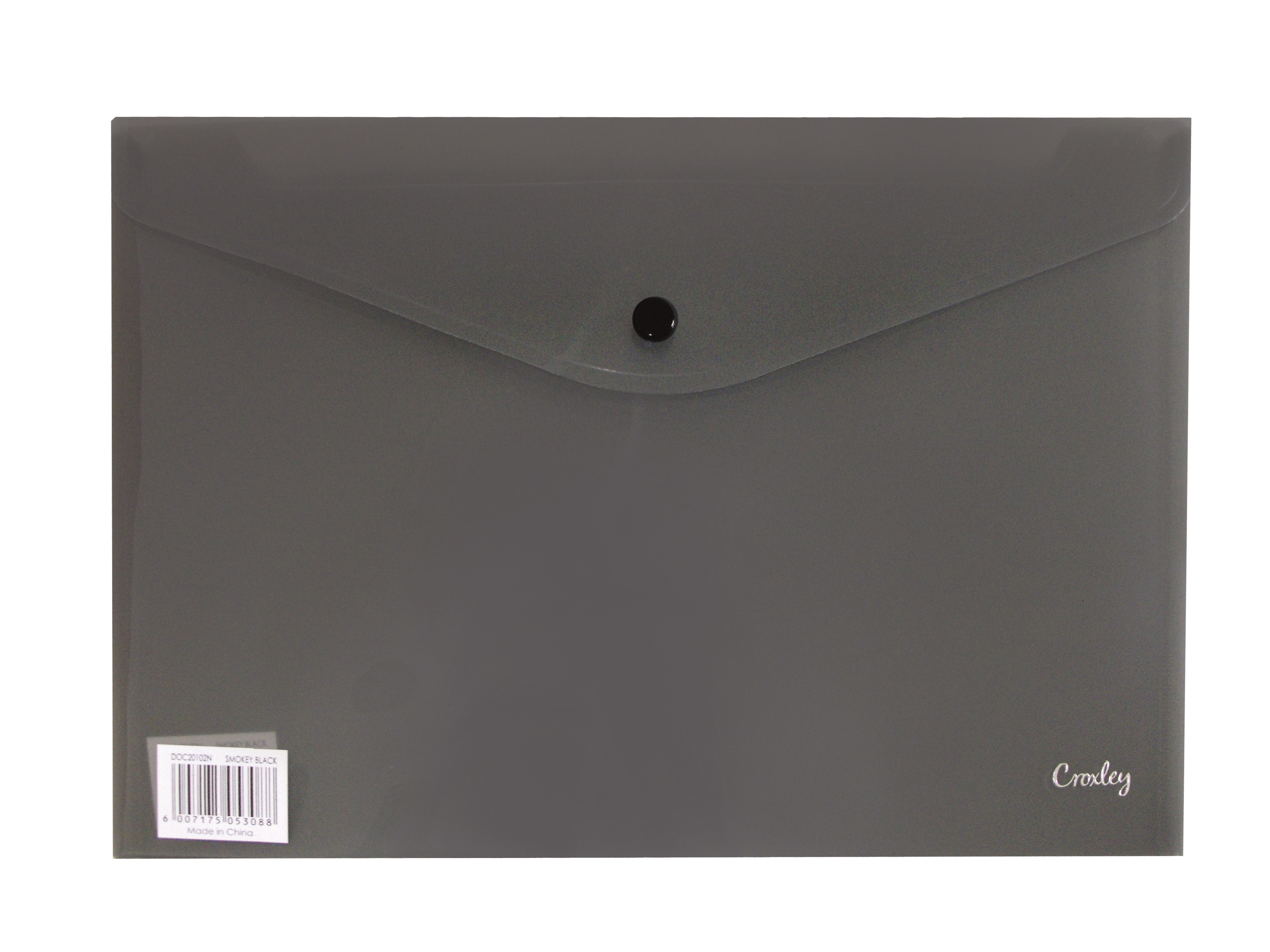 Croxley A4 Envelope with Button - Black PK 12