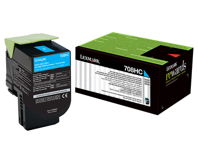 Lexmark 708hc Cyan High Yield Return Program Toner Cartridge