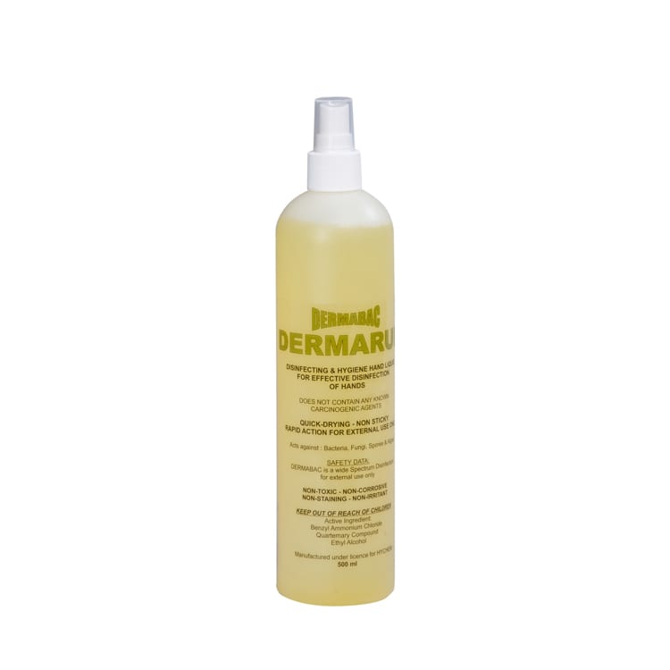 Hand sanitising - Dermarub- 70% Ethanol - 20 x 500ml
