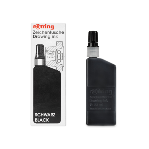 ROT DRAWING INK 23ML BLACK, S0194660