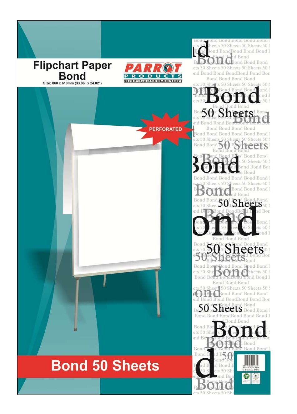 Parrot Flipchart Paper Bond 50 Sheets 860*610mm 60gsm
