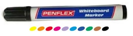 Penflex WB15 White Board Bullet Marker Light Blue