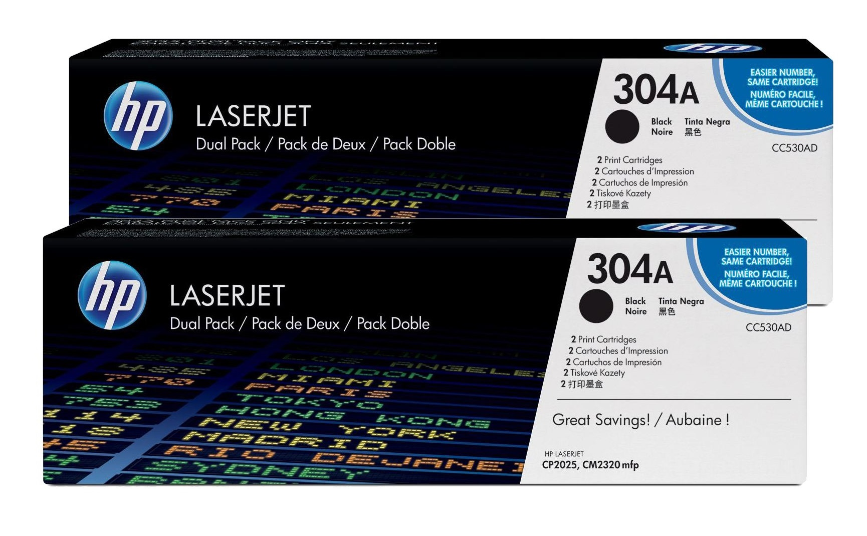 HP 304A Black Dual Pack Toner Cartridge