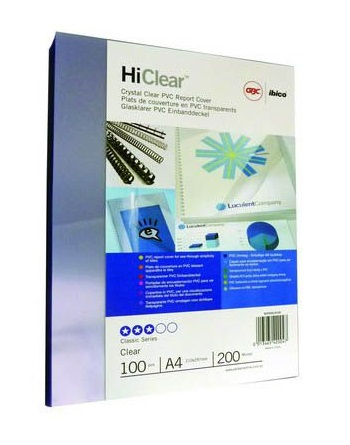 Rexel Clear Covers 200mic 100s