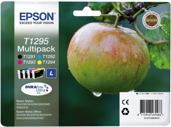Epson T1295 High Yield Multipack Ink Cartridges