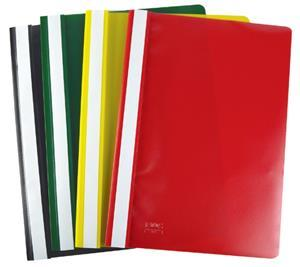 A4 Yellow Quotation Folder Clear Front