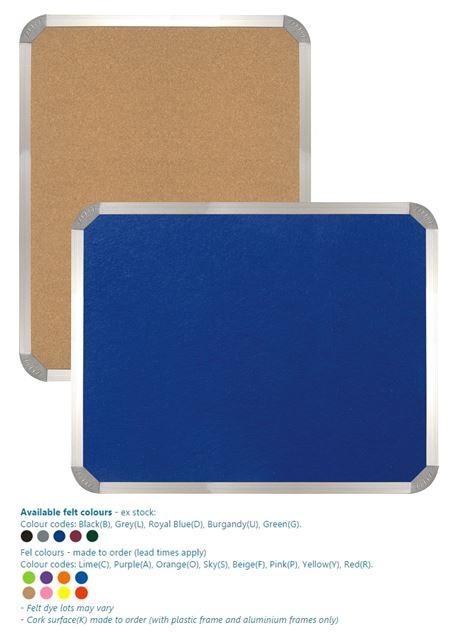 Parrot Info Board Aluminium Frame 1000mmx1000mm Cork