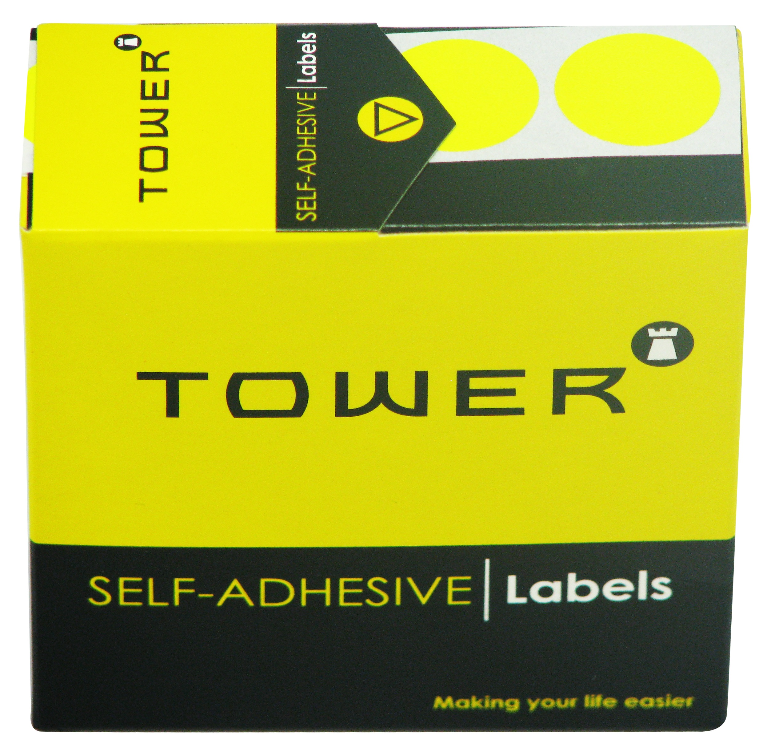 Tower C19 Label Flu Lime