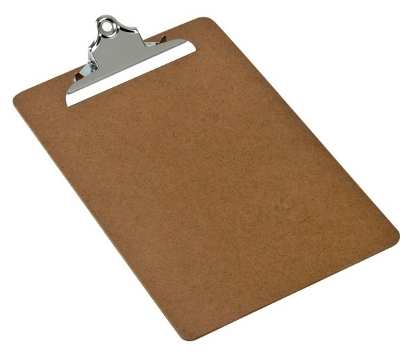 A4 Masonite Clipboards