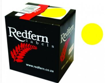Redfern C19 Label Yellow