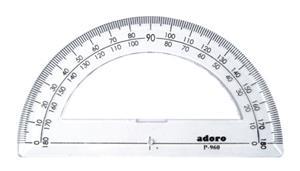 Protractor 10cm 180d Clea H01c