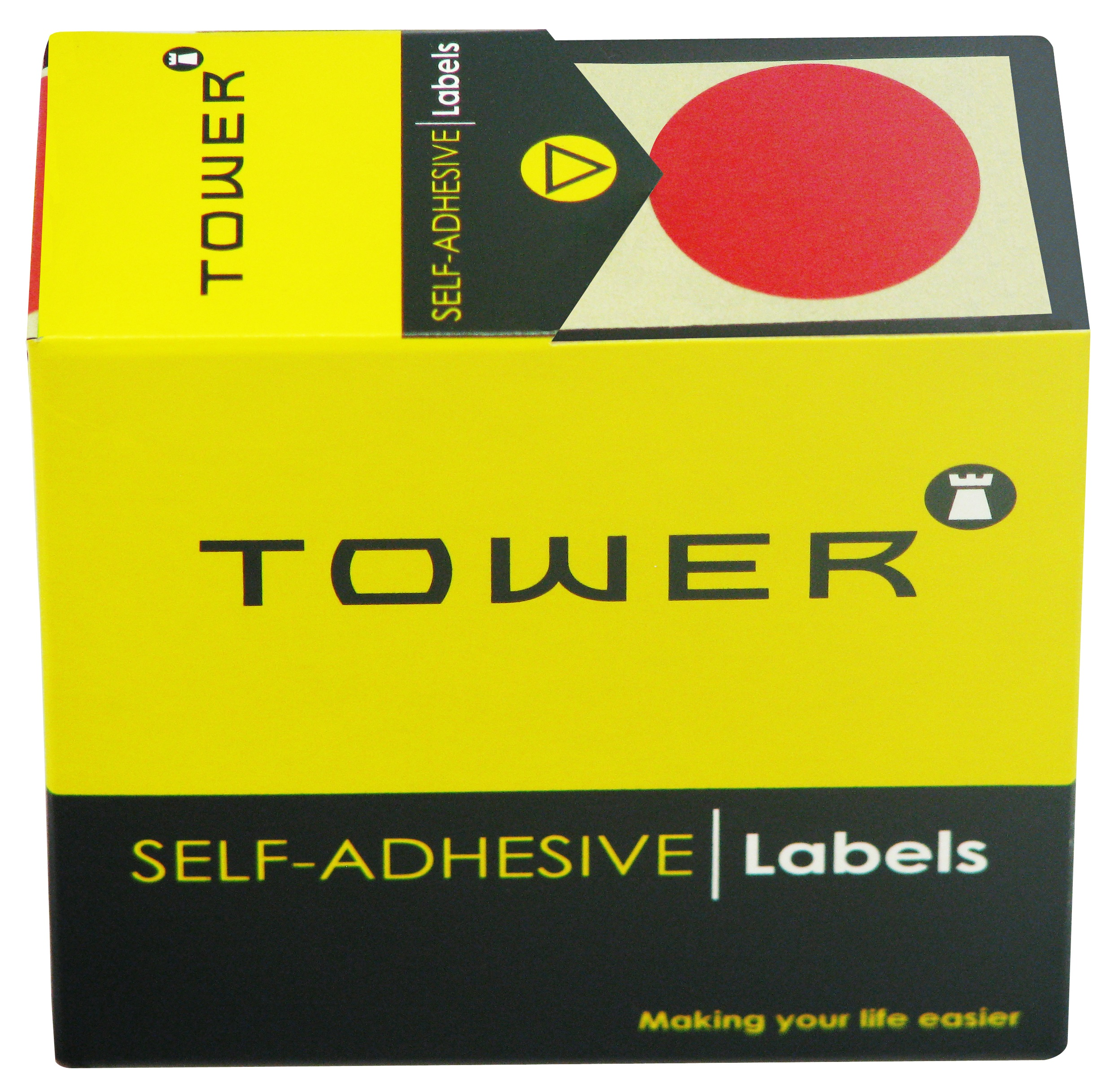Tower C32 Label Red