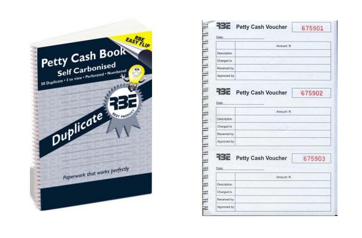RBE Petty Cash Duplicate A5 Spiral