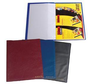 Flip File Slimfile A4 50 Page Navy Blue