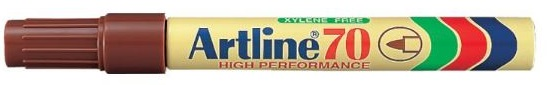 Artline EK70 Marker Brown Bullet