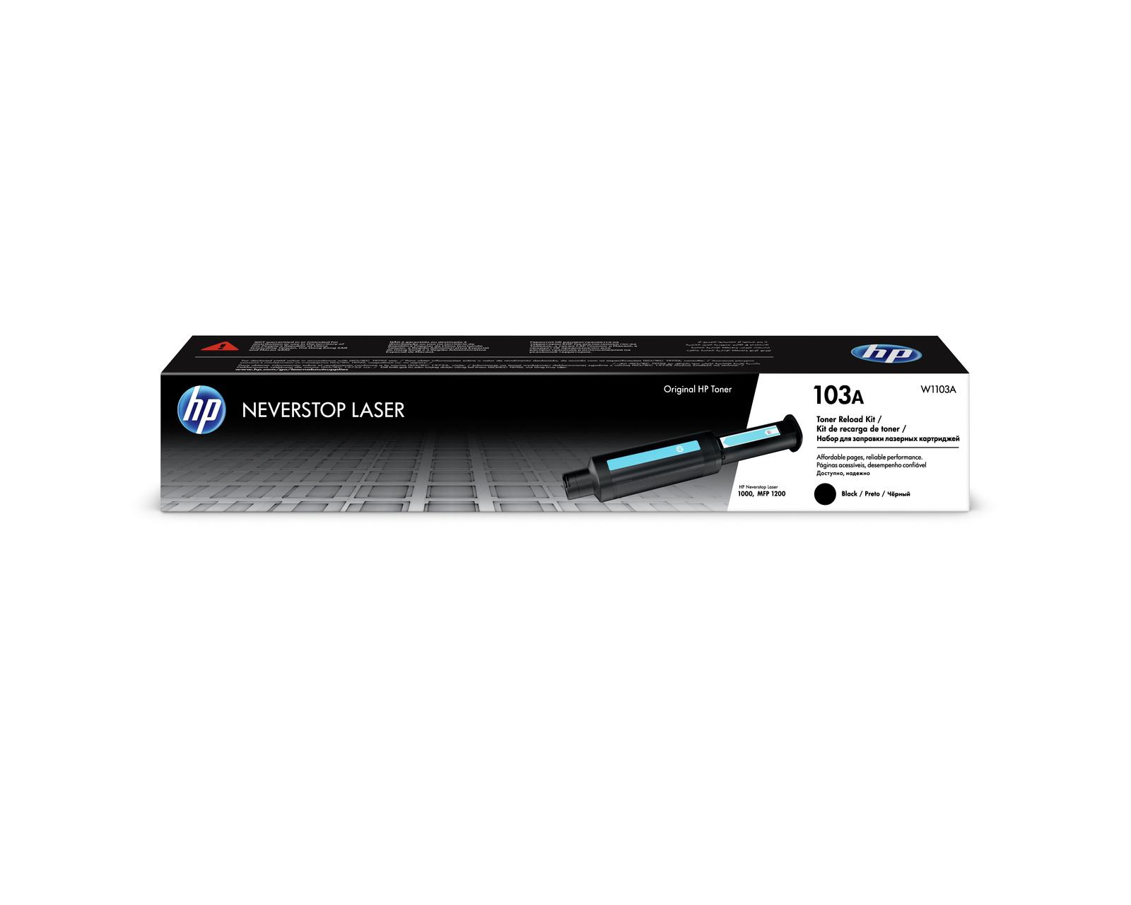 HP #103A BLACK ORIGINAL LASER RECHARGE KIT FOR HP NEVERSTOP