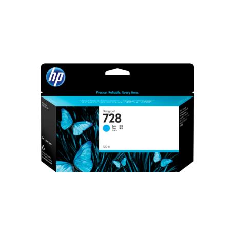 HP 728 CYAN INK CARTRIDGE FOR T7 830 ( 130ML )