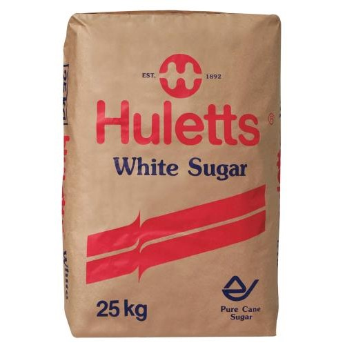 SUGAR WHITE HULETTS 25KG PACK