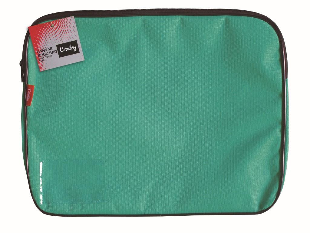 Croxley Canvas Gusset Book Bag Teal Green