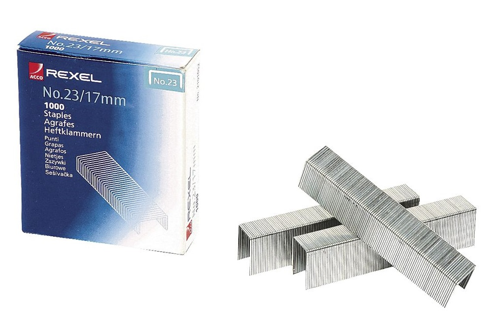 Rexel 23-17 Staples 1000'S(130 Sheet Capacity)
