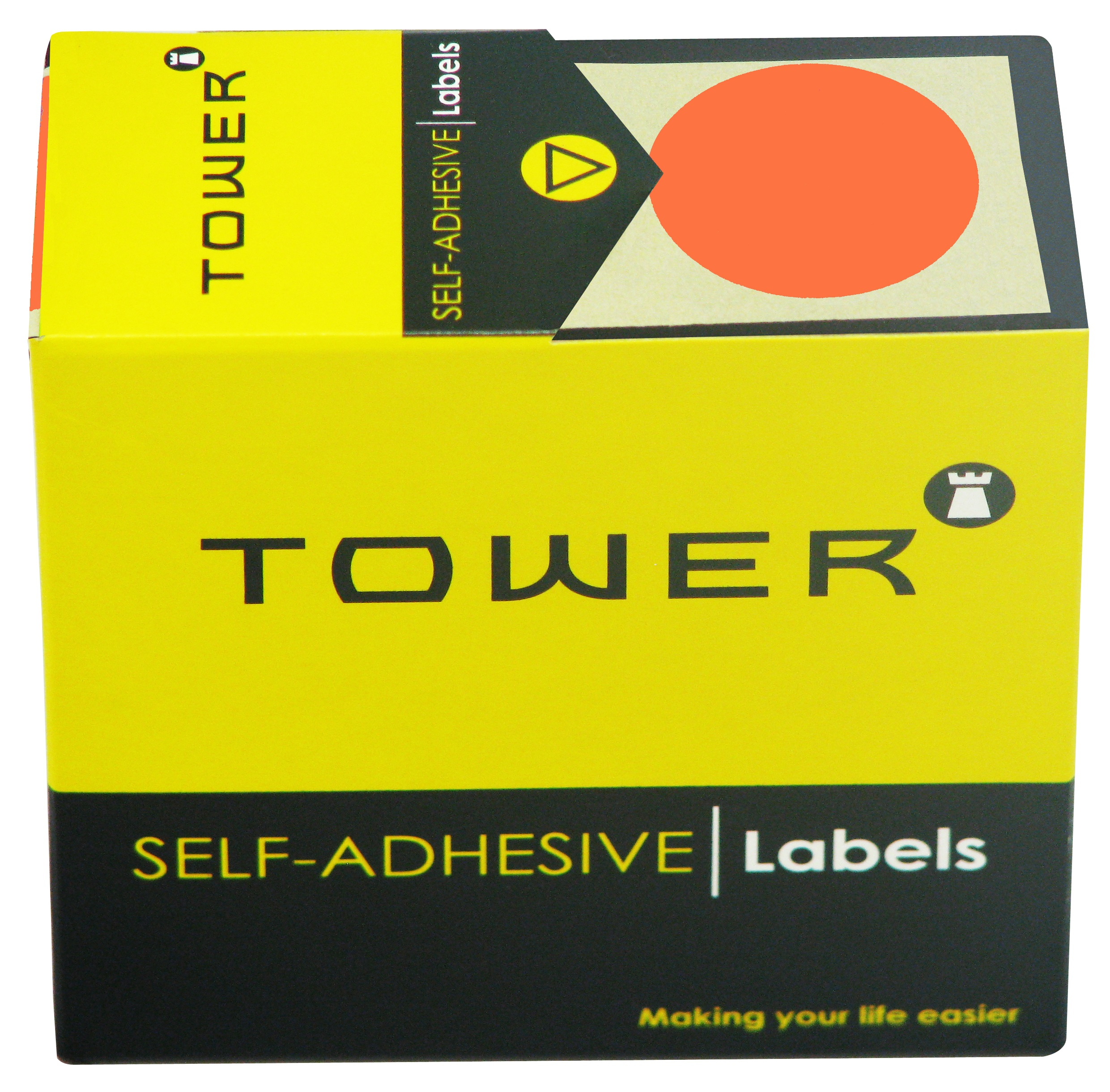 Tower C32 Label Flu Red